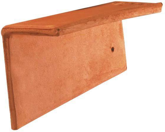 Tuile de rive individuelle gauche plate 16x24 terre - Prix tuile plate terre cuite ...