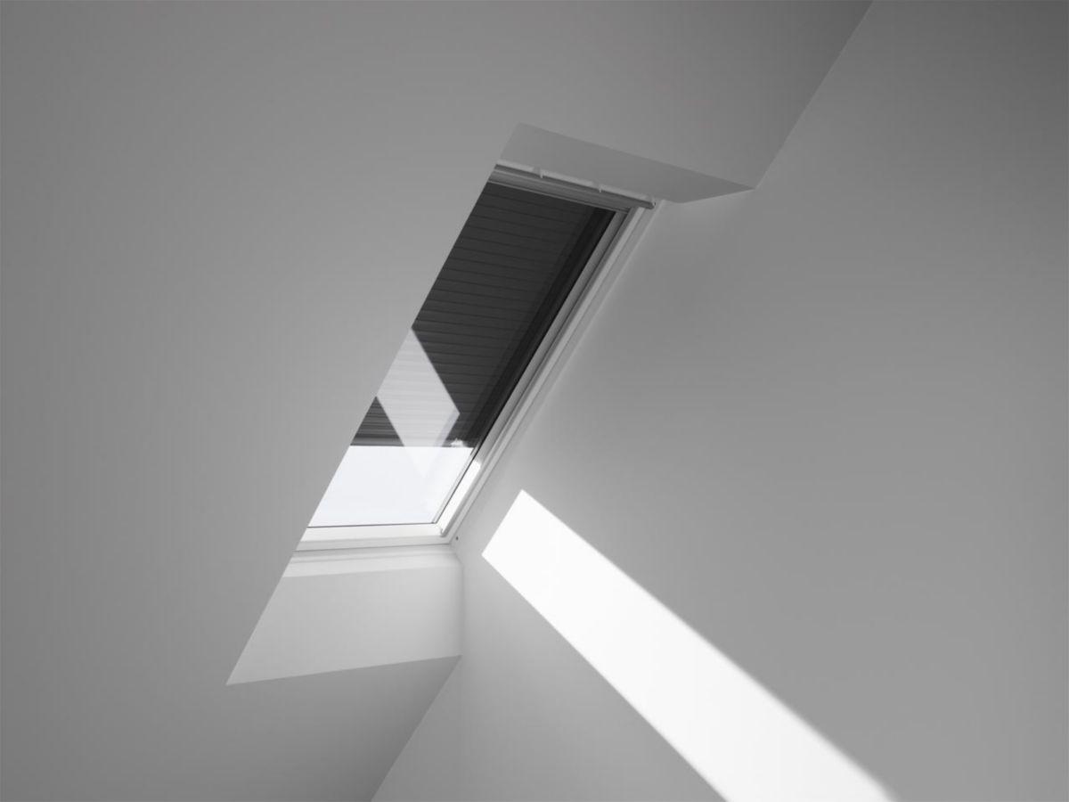 Volet roulant électrique SML pour fenêtre de toit SK06 114x118 cm - aluminium - gris anthracite ...