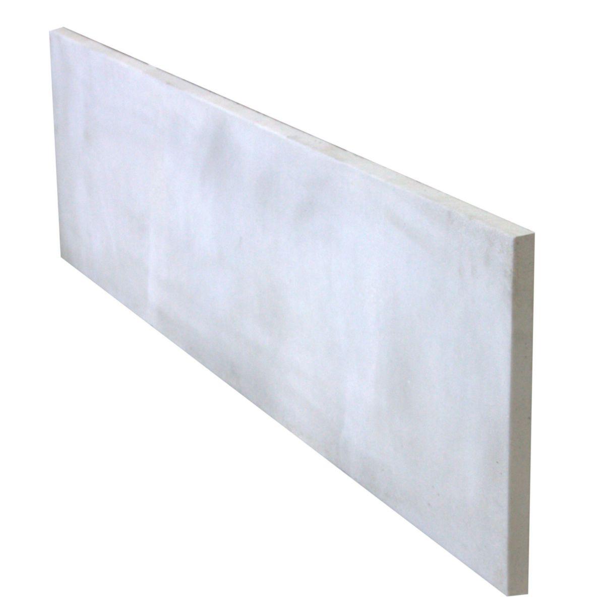 Prix D Un Mur De Cloture En Plaque De Beton plaque de clôture pleine - béton armé - 192x50x3,5 cm