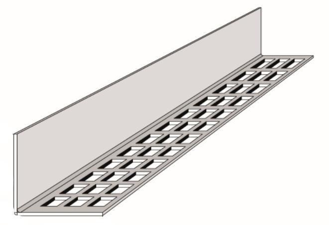 Gedotec Lot de 2 grilles da/ération rectangulaires en plastique pour porte et meubles 120 x 225 mm