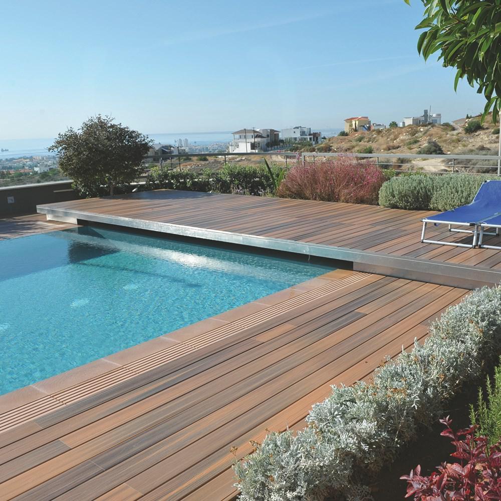Lame De Terrasse Bois Composite Fiberon Horizon Ipé à Visser 24x136mm Réelle 24x136x2440mm