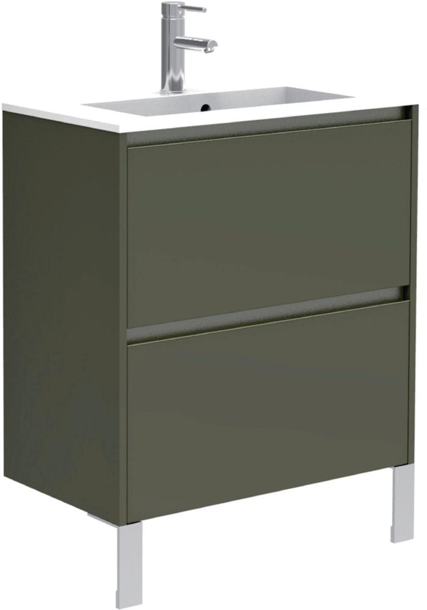 Armoire Salle De Bain 70 Cm Largeur meuble sous vasque plénitude - 70x70x38 cm