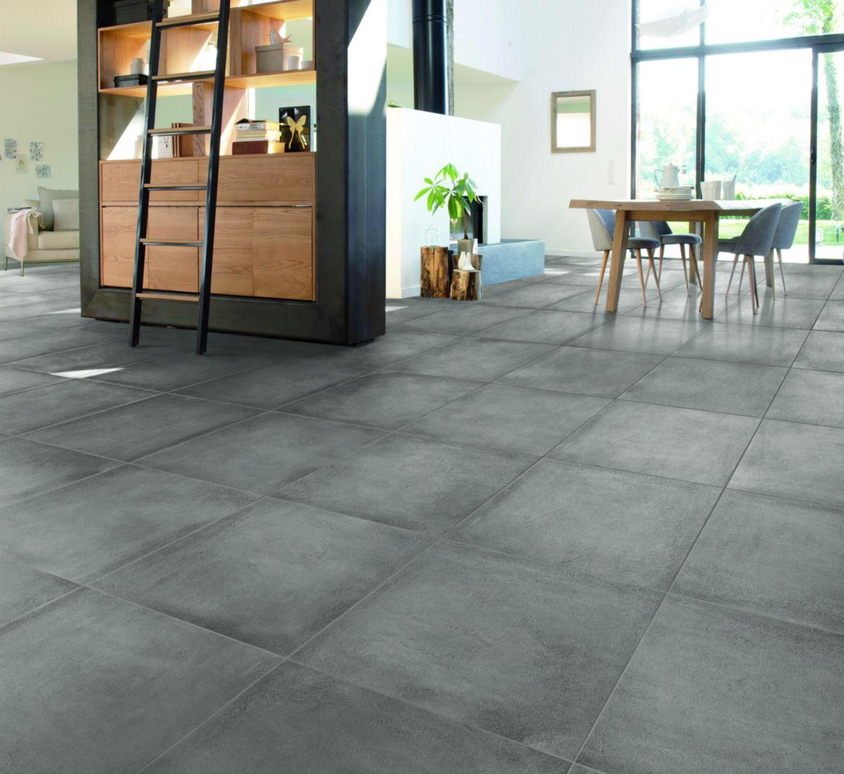 Carrelage Sol Interieur Gres Cerame Ciment Palais Rectifie 60x60 Cm Desvres