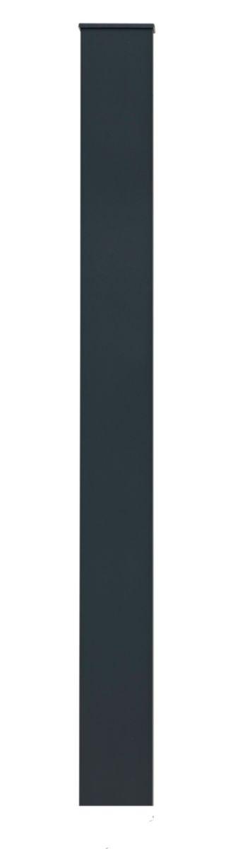 Pilier Aluminium Thermoplaqué Pour Portail Ou Portillon Section 15x15 Cm Les Exclusifs Gris 190 M